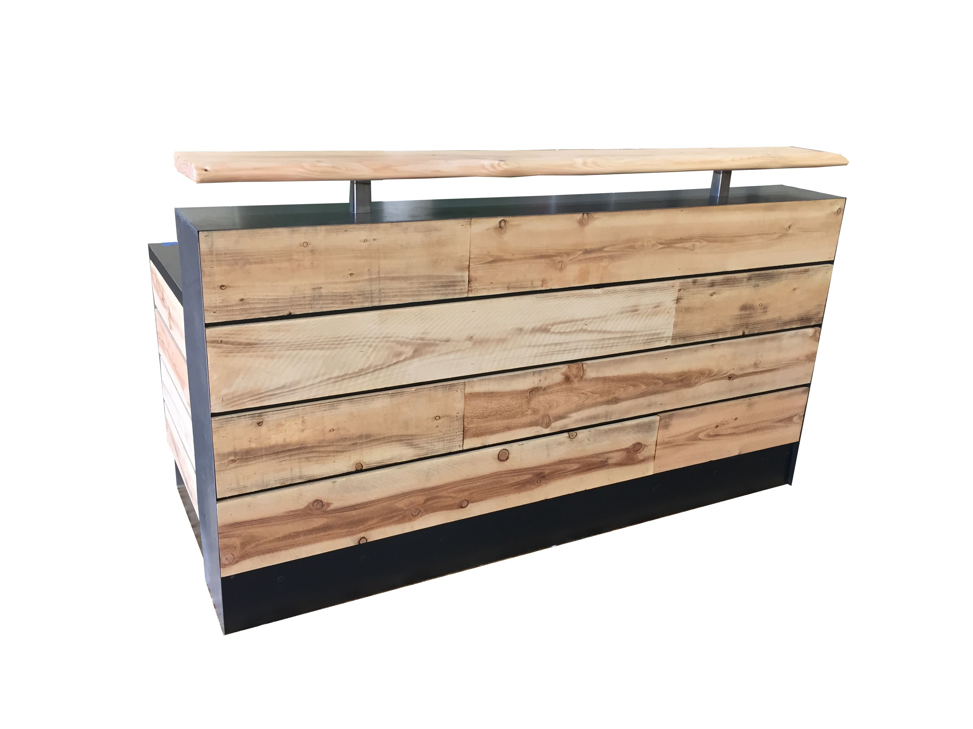 Buy a hand made 17 pine reclaimed wood reception desk or for Buy reclaimed wood online