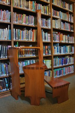 Custom Spiral Library Ladder Step Stool By Bucks County