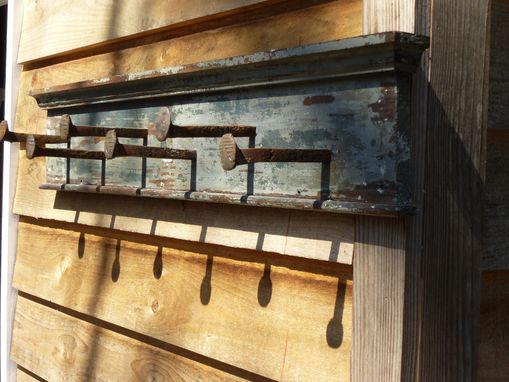 Custom Made Railroad Spike Coat Rack