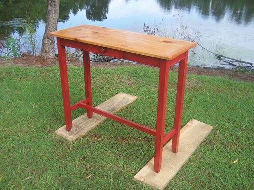 Custom Made Heirloom Red Painted Foyer Table