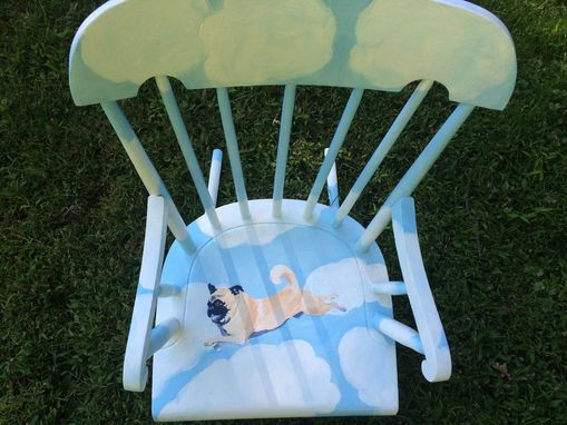 Custom Made Flying Pug Rocking Chair