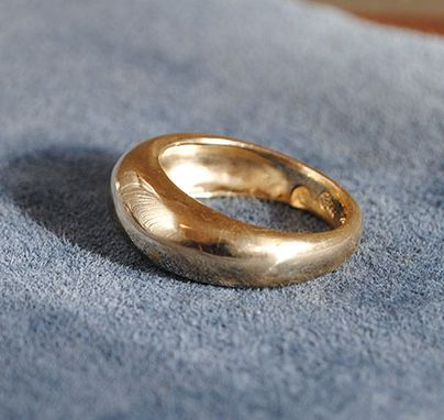 Custom Made High Dome Ring In 14k Yellow Gold