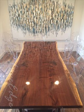 Custom Made Live Edge Dining Table, Modern Dining Table, Industrial, Conference Table