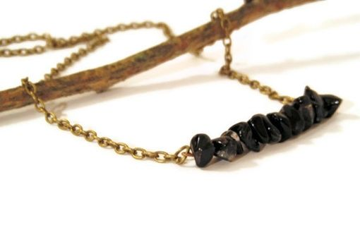 Custom Made Black Agate Row Necklace