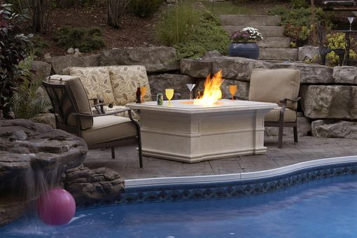 Custom Made Custom Stone Firepit Tables