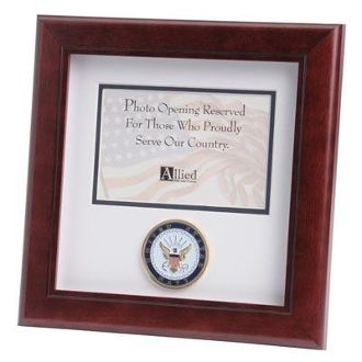 Custom Made U.S. Navy Medallion Landscape Picture Frame