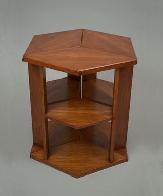 Custom Made Walnut Art Deco End Table