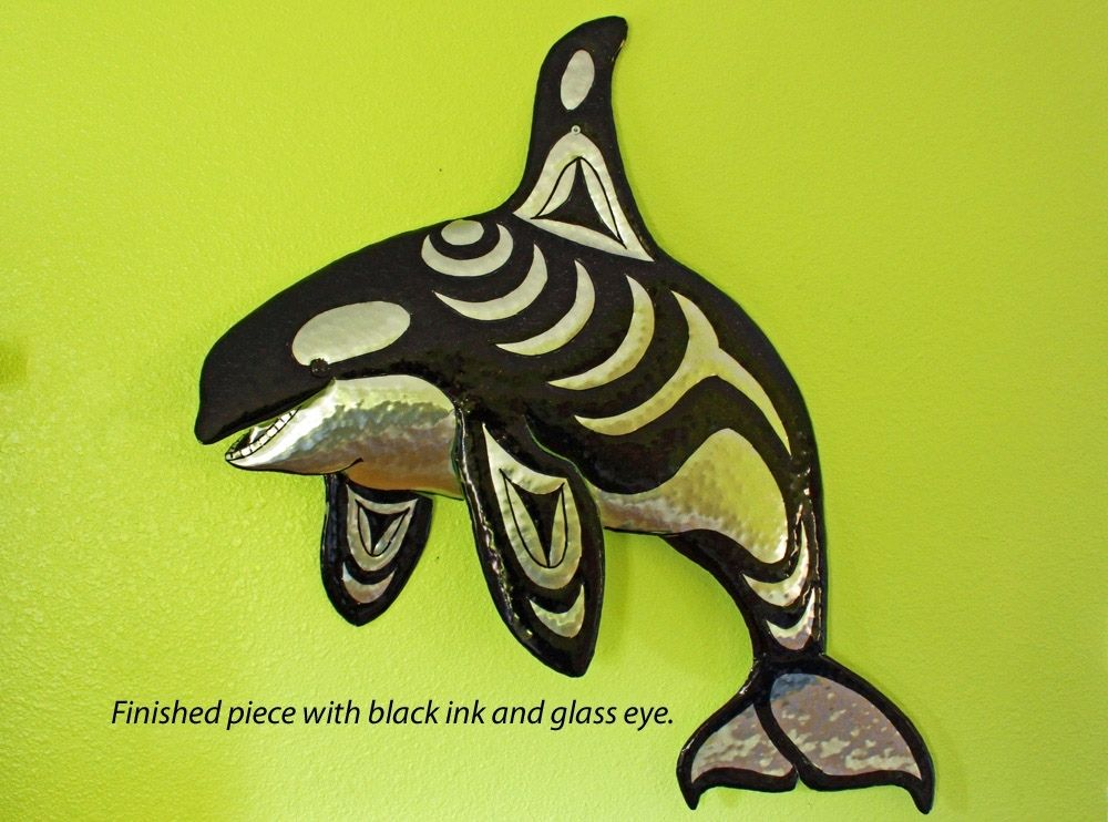 Custom Made Solid Aluminum Killer Whale Sculpture By Metal
