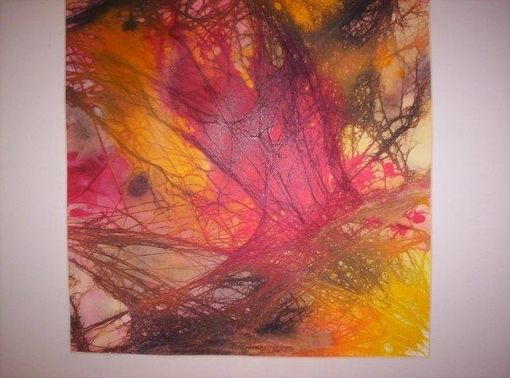 "Custom Made Mixed Media Ink And Watercolor Abstract Painting.""Fairy Highway"""