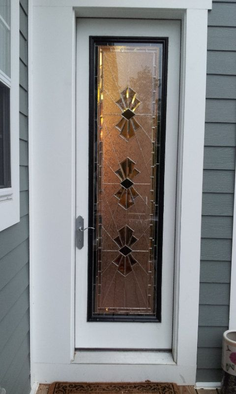 Handmade Stained Glass Door Panel Exquisite Bevels P 21 By