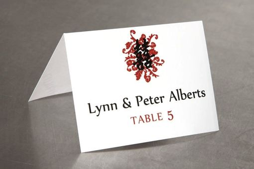 Custom Made Chinese Double Happiness Place Cards - Escort Cards For Your Wedding