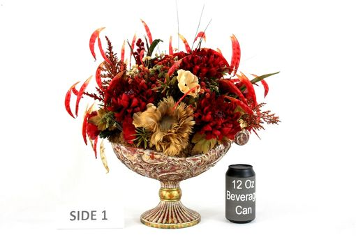 Custom Made Dining Table Centerpiece, Silk Flower Arrangement Home Decor, Dining Room Decor