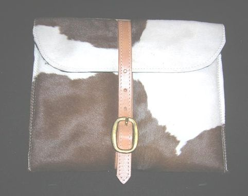 Custom Made Cowhide Ipad Case Brown