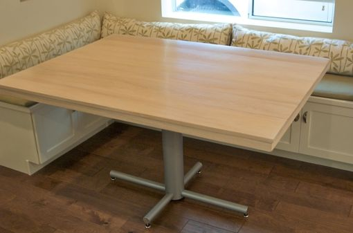 Custom Made Butch Block , Pedestal Kitchen Table