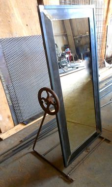 Custom Made Industrial Standing Mirror