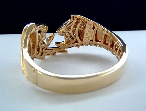Custom Made Lion Bangle Bracelet