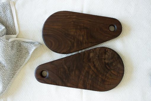Custom Made Set Of 2 Handmade Walnut Serving Boards