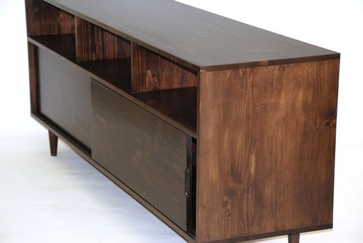 Custom Made Mid Century Media Console - Latte Pine