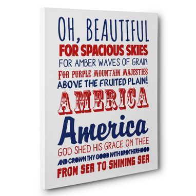 Custom Made America The Beautiful Patriotic Canvas Wall Art