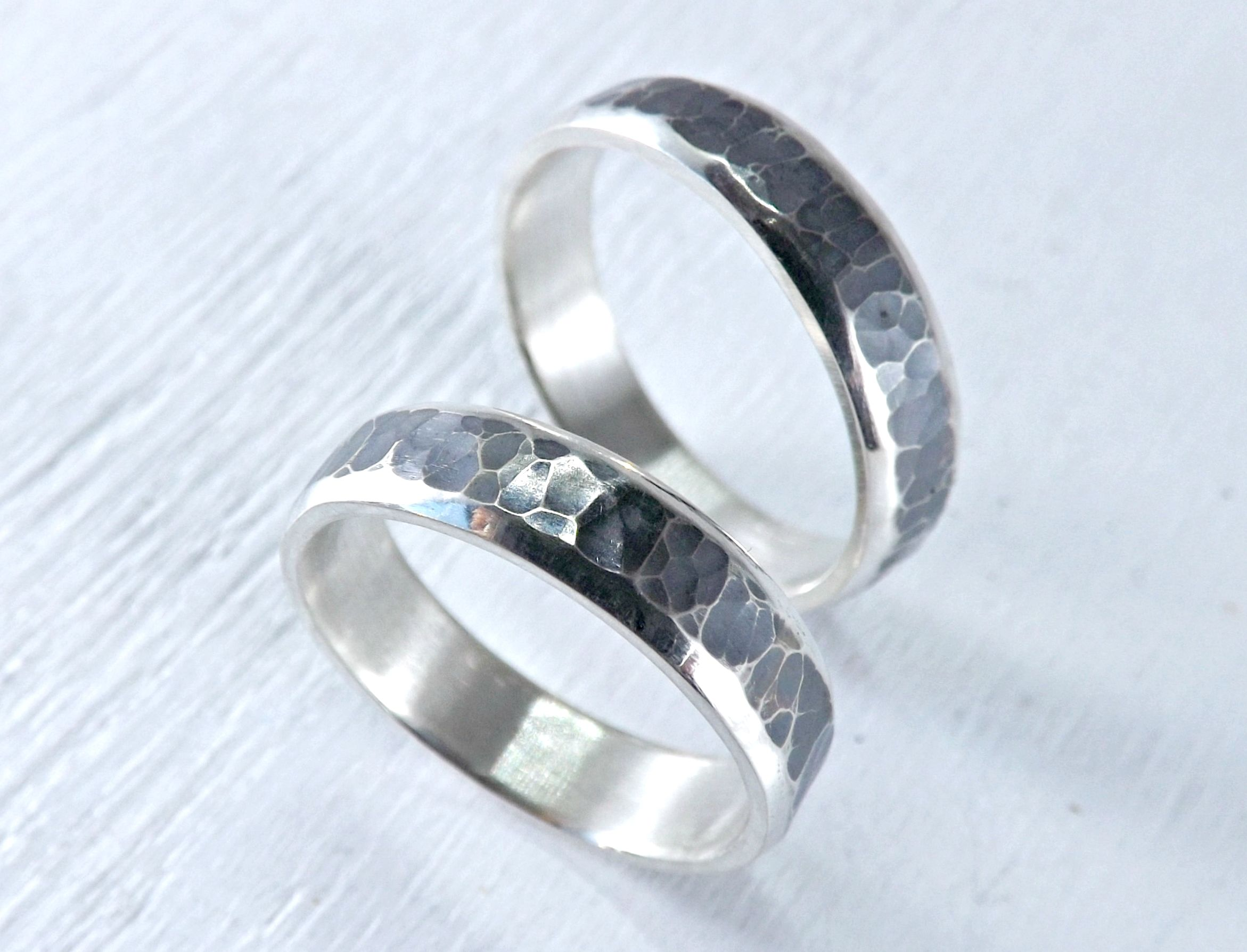 matching his flat slim simple and hand wedding rings ring bands buy wedd set custom hers silver crafted jewellery crazyassjewelry by made
