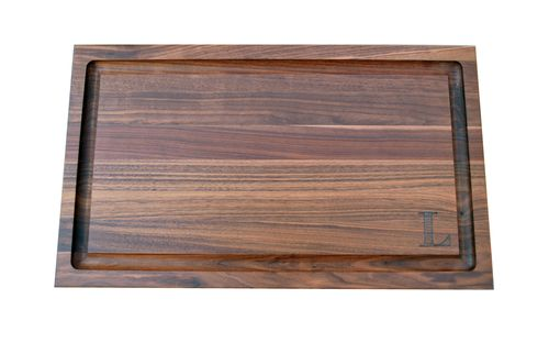 Custom Made Personalized Walnut Edge Grain Butcher Block