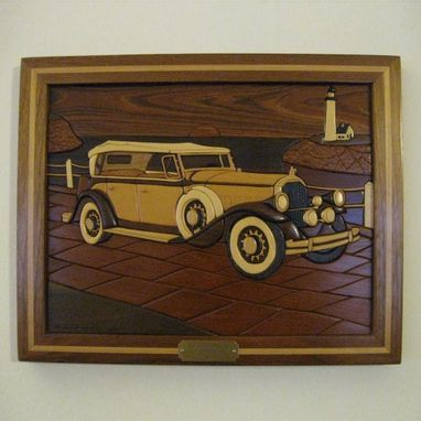 Custom Made Framed 1931 Pierce Arrow Intarsia