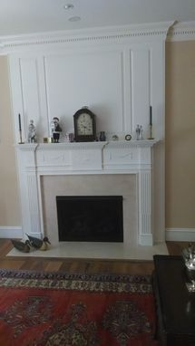 Custom Made Carved Georgian Mantle With Raised Panelled Surround