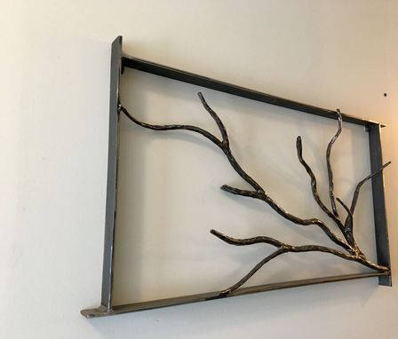 Custom Made Forged Tree Branch Wall Art