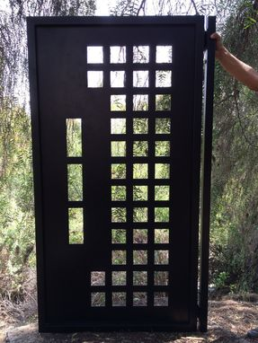 Custom Made Metal Gate Contemporary Modern Custom Iron Garden Art Walk Pedestrian