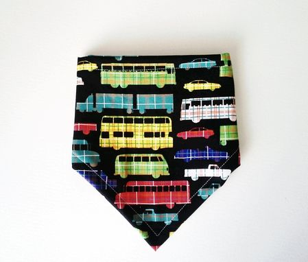 Custom Made Car Print Bandana Bib For Baby