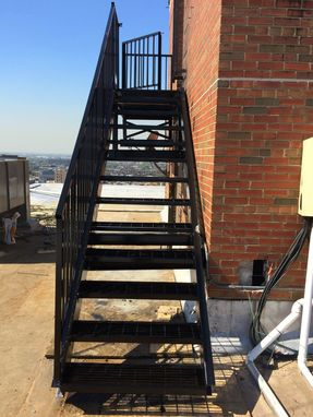 Custom Made Steel Fire Escape