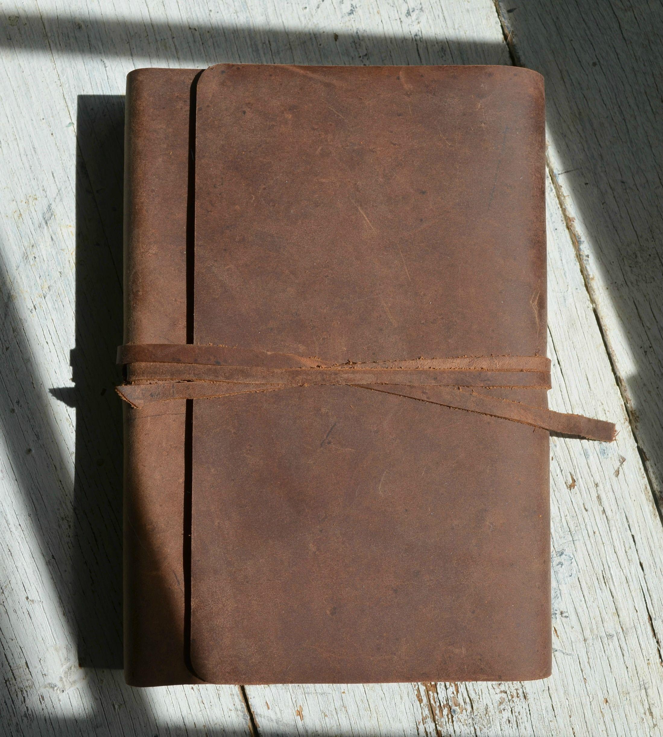 Leather Bound Bible Niv Version Distressed Brown Cowhide 577uu