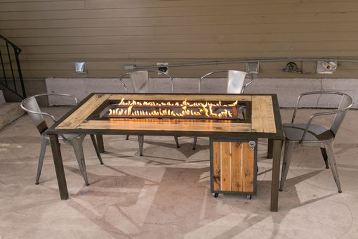 Custom Made Dining Fire Pit Table