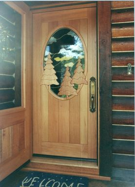 Custom Made Screen/Storm Door Over Custom Entry Door