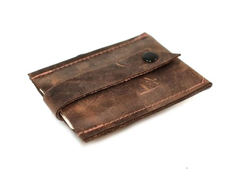 Custom Made Pop-Up Leather Card Wallet And Business Card Holder