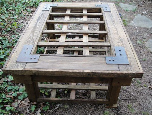 Custom Made Coffee Or Accent Rustic Table Made From Old Weathered Cedar Gate
