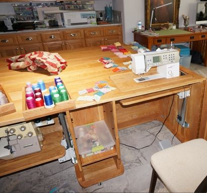 Custom Made Sewing Table For Two Machines