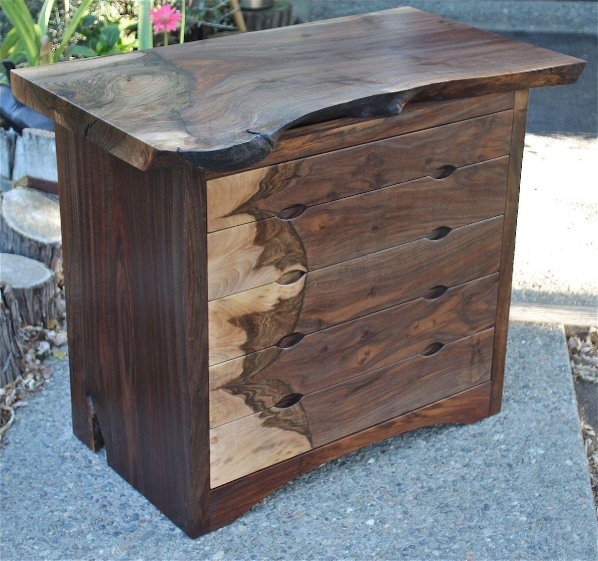 Custom Modern Dresser, Mid Century, Claro Walnut By Aaron
