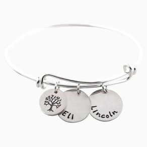 Personalized Adjule Mommy Bangle Bracelet Tree Of Life By Vanessa Painter