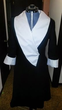Custom Made Black And White Winter Coat