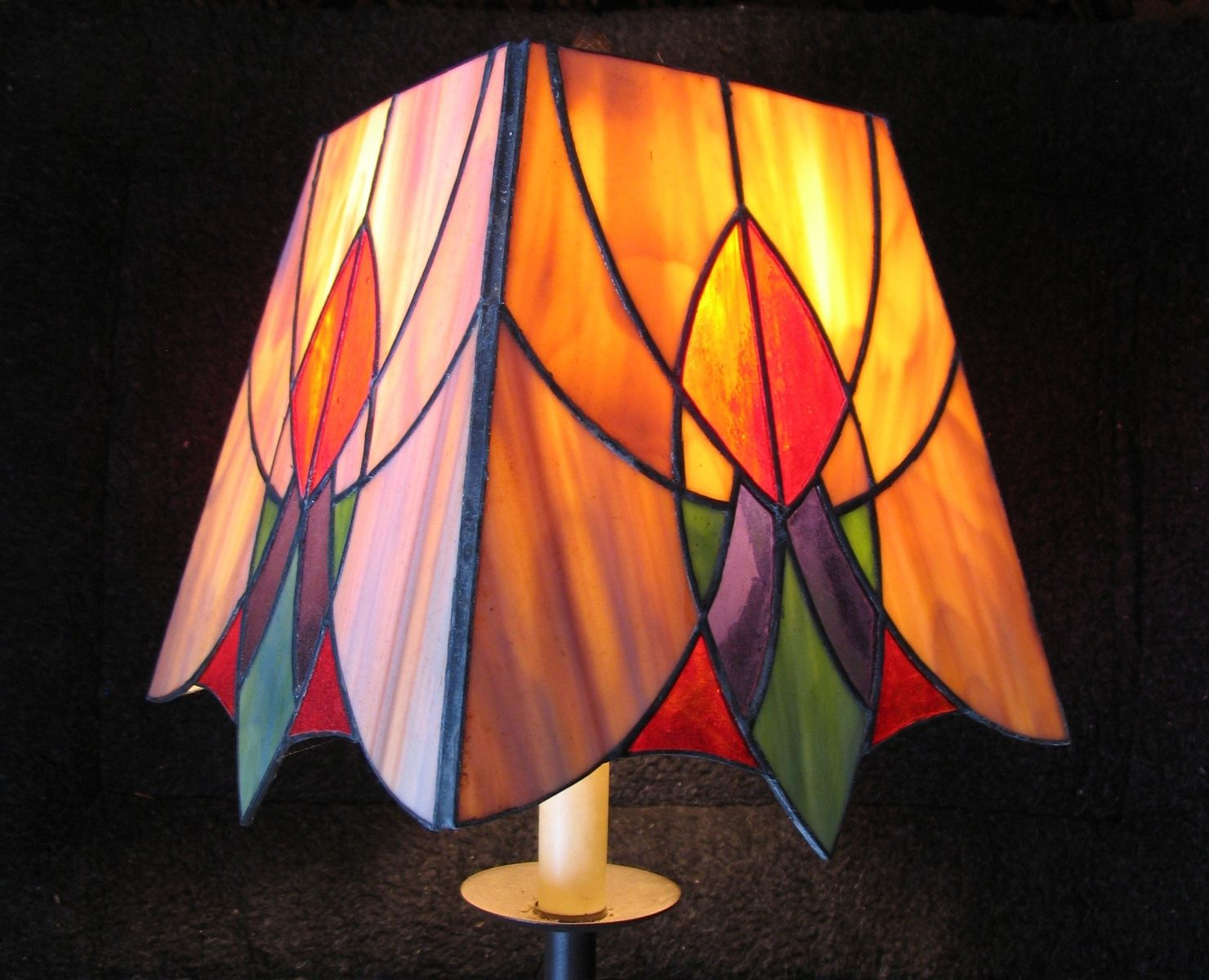 Hand Made Stained Glass Lampshade By Bernard Murphy