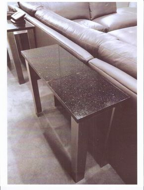 Custom Made Sofa Tables W/ Stainless Steel Base And Granite Tops