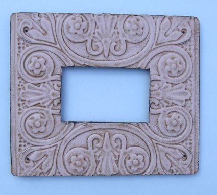 Custom Made Housewares Metal Photo Frame Pink Distressed