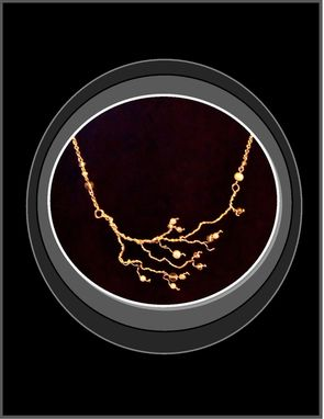 Custom Made Abstract Tree Of Life, Tree Of Life Jewelry, Pearl Jewelry, Tree Of Life Jewelry