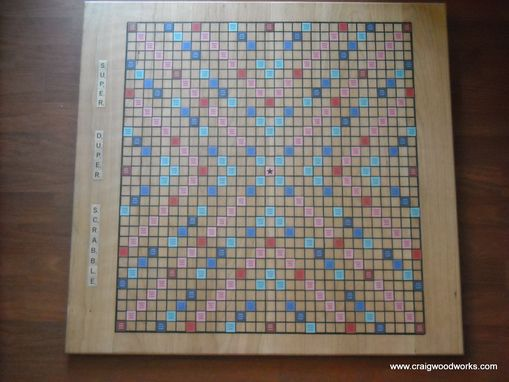 Custom Made Of A Scrabble Theme