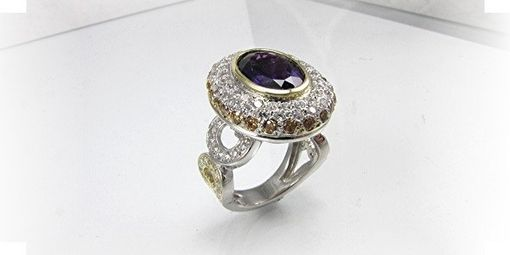 Custom Made Ladys Ring ,,Romanoff Amethyst Heirloom''