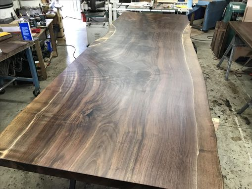 Custom Made Live Edge Walnut Conference Table