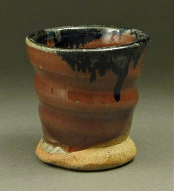 Custom Made Handmade Copper Red Glaze Shot Glass, (Sku 97)
