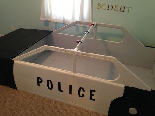 Custom Made Police Car Twin Bed
