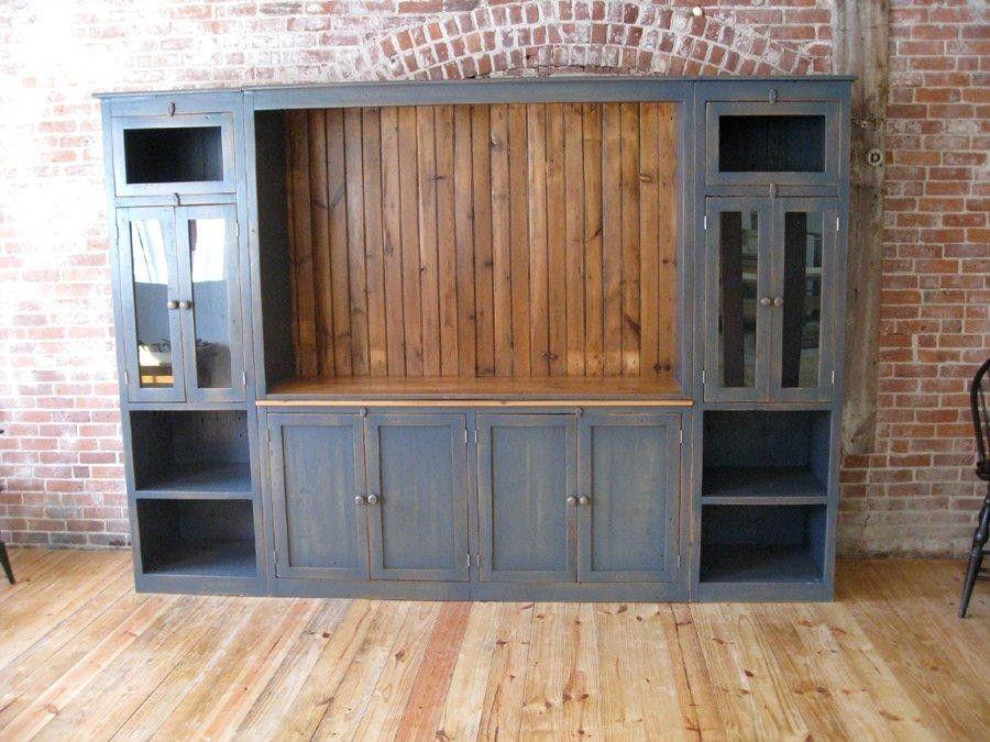 Full Size Barn Wood Media Cabinet